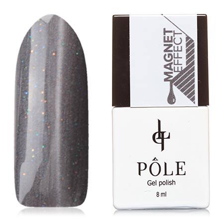 POLE, Гель-лак №69, Темно-серый перламутрPOLE<br>Магнитный гель-лак (8 мл) темно-серый, с серебристым перламутром и разноцветными мелкими блестками.<br><br>Цвет: Черный<br>Объем мл: 8.00