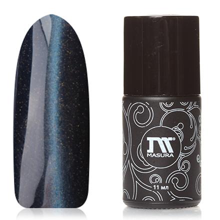 Masura, Гель-лак «Драгоценные камни» №295-21S, Хвост кометыMasura трехфазный шеллак<br>Магнитный гель-лак (11 мл) синий, с золотым микрошиммером и зеркальным переливом, плотный.<br><br>Цвет: Синий<br>Объем мл: 11.00