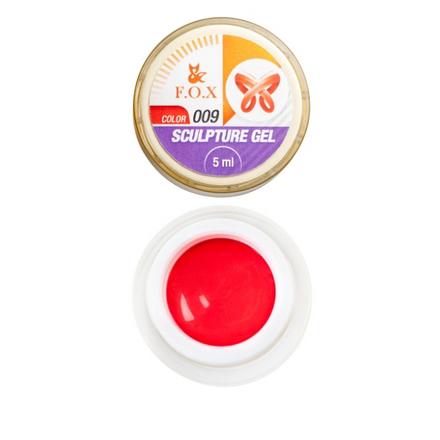 FOX, Гель-пластилин Sculpture Gel №009, красный4d гель (пластилин) для ногтей<br>Гель-пластилин для объемных дизайнов (5 мл).<br><br>Объем мл: 5.00