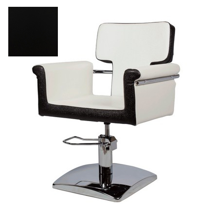 Купить Мэдисон, Кресло парикмахерское «МД-77» гидравлическое, хромированное, черное