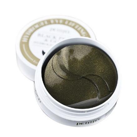 Petitfee, Патчи для глаз Black Perl&Gold, 60 шт.Патчи для глаз<br>Гидрогелевые патчи повышают упругость и эластичность кожи вокруг глаз.