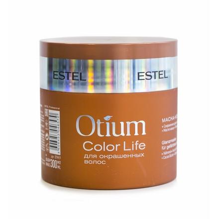Estel, Маска-коктейль Otium Color Life, для окрашенных волос, 300 млМаски для волос <br>Средство сохраняет цвет ярким и насыщенным, предотвращает преждевременное вымывание молекул цвета.<br><br>Объем мл: 300.00