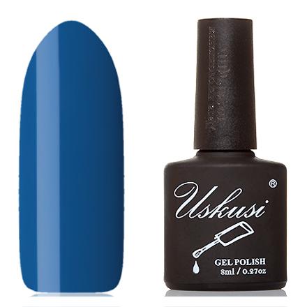 Uskusi, Гель-лак №008Uskusi<br>Гель-лак (8 мл) ярко-синий, без перламутра и блесток, плотный.
