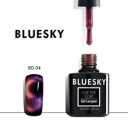 Купить Bluesky, Гель-лак 9D Cat Eye №04, Розовый