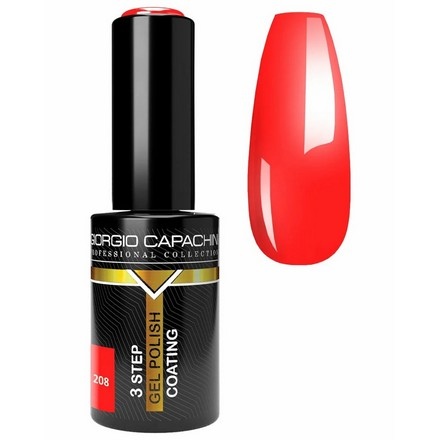 Купить Giorgio Capachini, Гель-лак Rouge №208, Красный