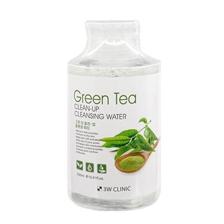 3W Clinic, Очищающая вода Green Tea, 500 мл