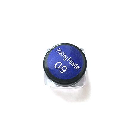 Bluesky, Втирка «Зеркальный блеск» №09, синяя от KRASOTKAPRO.RU
