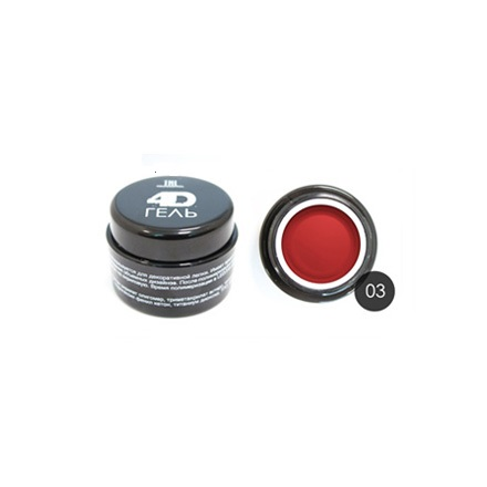 TNL, 4D-гель для дизайна ногтей №3, красный от KRASOTKAPRO.RU