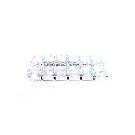 TNL, Дисплей для дизайна на 12 ячеек (белый)Емкости<br>Удобный дисплей для компактного хранения дизайна.<br>