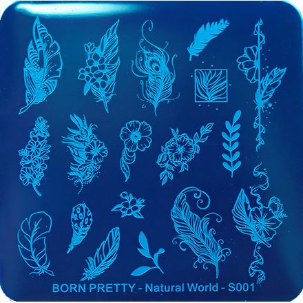Купить Born Pretty, Пластина для стемпинга Natural World №001