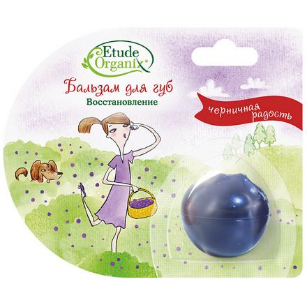 Etude organix, Восстанавливающий бальзам для губ Черничная радость