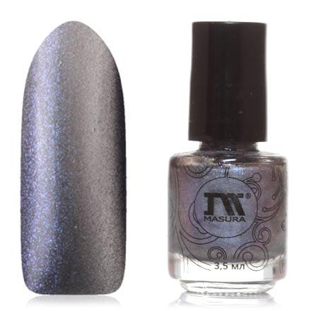Masura, Лак для ногтей №904-223M, Fleur-de-lisМагнитные лаки Masura<br>Магнитный лак (3,5 мл) серебристо-серый, с перламутром, с синими/пурпурными микроблестками, плотный.<br><br>Цвет: Черный<br>Объем мл: 3.50