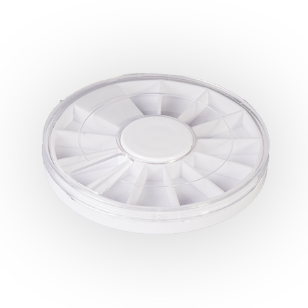 Колесо для стразЕмкости<br>Удобное колесо для компактного хранения страз разных цветов.