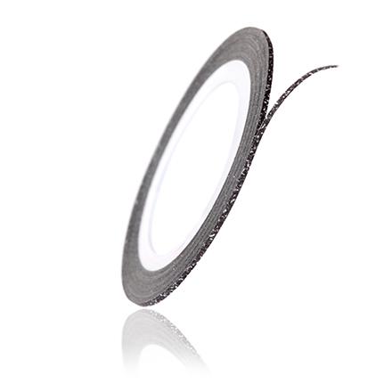 TNL, Нить на клеевой основе перламутровая, чернаяНити<br>Аксессуар для украшения ногтей.<br>