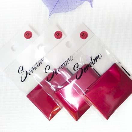 Serebro, Фольга для дизайна ногтей №12, красная, матовая фото