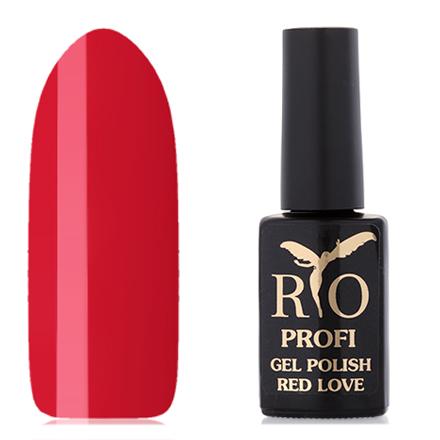 Rio Profi, Гель-лак «Red Love» №7, Цинния rio profi гель лак 83 королевский дракон