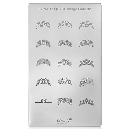 Konad, Пластина для стемпинга Square Image Plate № 02