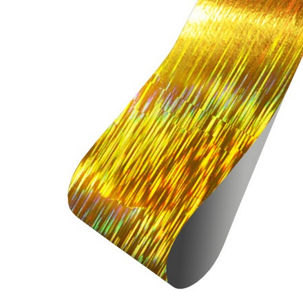 """Patrisa nail, Фольга для дизайна """"Рябь"""" (голография золотая), 60 см"""
