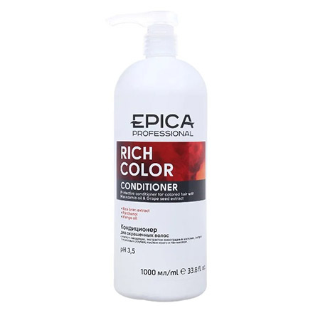 Epica, Кондиционер Rich Color, 1 л chi luxury black seed oil curl defining cream gel