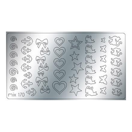 Купить Freedecor, Металлизированные наклейки №170, серебро