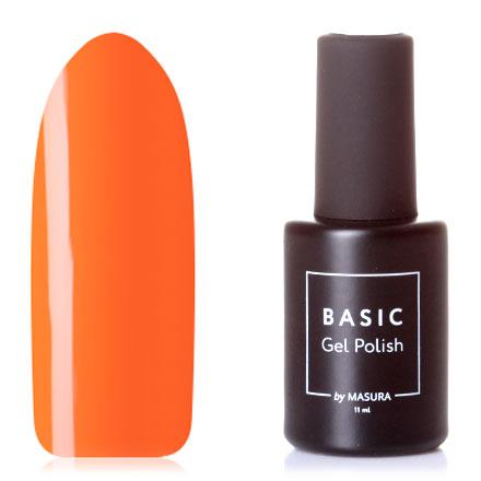 Купить Masura, Гель-лак Basic №045S, Цедра апельсина, Оранжевый