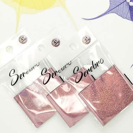 Купить Serebro, Фольга для дизайна ногтей №47, розовый блеск