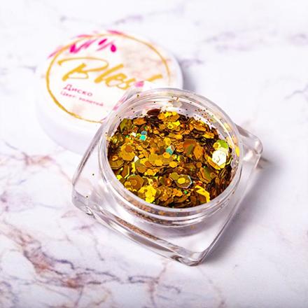 Купить Blesk, Дизайн для ногтей «Диско», золотой, Золотой