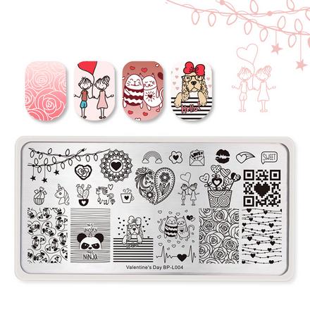 Купить Born Pretty, Пластина для стемпинга Valentine's day №004