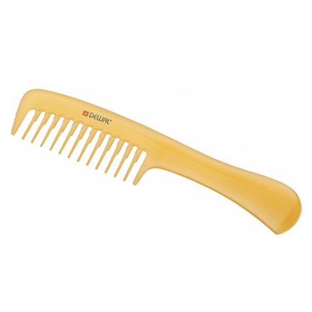 Купить Dewal, Расческа с ручкой Prosun, антистатик, желтый, 20 см