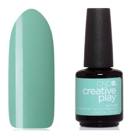 CND, Creative Play Gel №501, Shady palmsCND<br>Гель-лак (15 мл) мятный,  без перламутра и блесток, плотный.