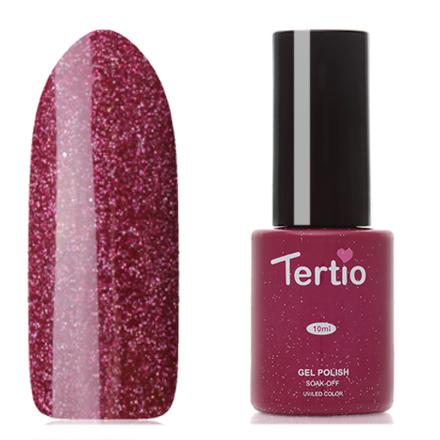Tertio, Гель-лак Eco Line №65Tertio<br>Гель-лак (10 мл) бордово-розовый, с микроблестками, плотный.<br><br>Цвет: Розовый<br>Объем мл: 10.00