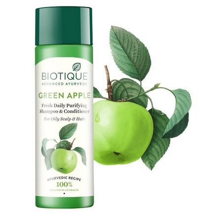 Купить Biotique, Шампунь-кондиционер для волос Bio Green Apple, 190 мл
