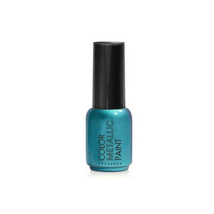 ruNail, Металлизированная краска для дизайна, синяя