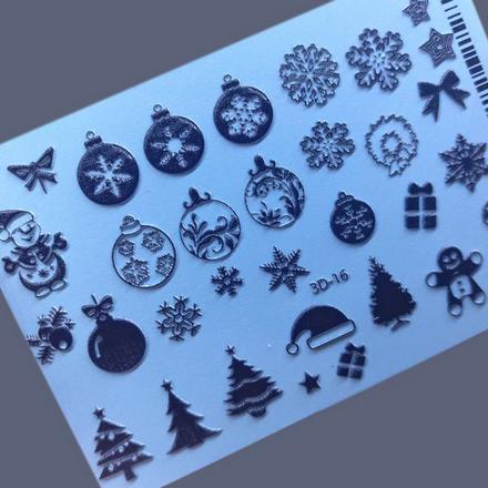Купить AnnaTkacheva, 3Dслайдер№16, черный «Зима. Новый год», Anna Tkacheva