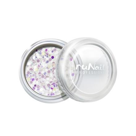 Купить RuNail, дизайн для ногтей: конфетти (белый)
