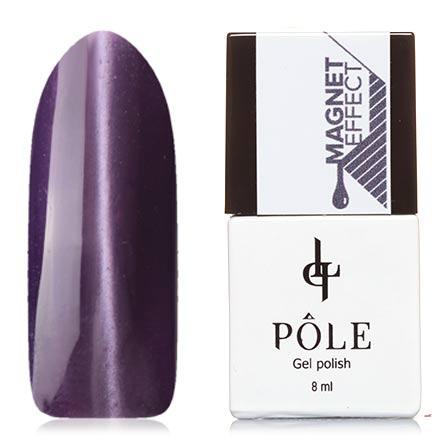 POLE, Гель-лак №55, ГлицинияPOLE<br>Магнитный гель-лак (8 мл) темно-сиреневый, с лавандовыми микроблестками, плотный.<br><br>Цвет: Фиолетовый<br>Объем мл: 8.00
