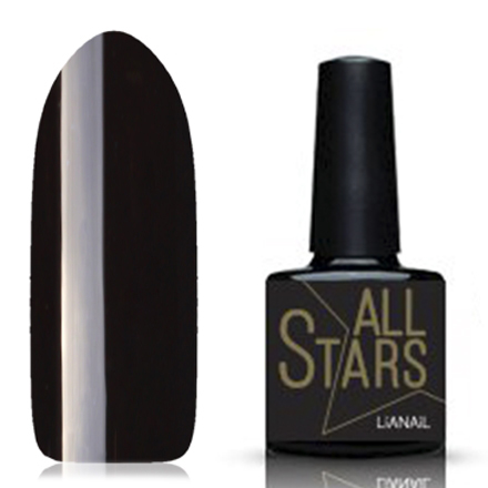 Lianail, Гель-лак, Черный лебедьLianail<br>Гель-лак (10 мл) черный, без перламутра и блесток, плотный.