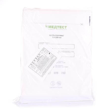 Купить Медтест, Пакеты для стерилизации, белые, 230х280 мм, 100 шт.