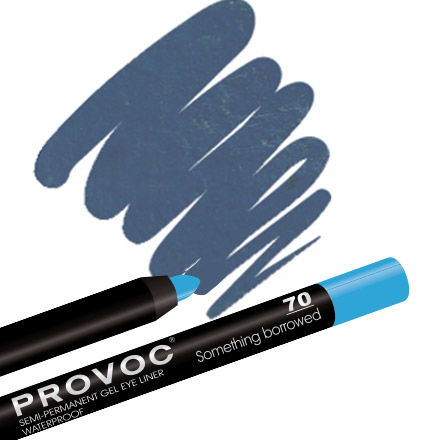 Provoc, Gel Eye Liner 70 Something borrowed, цвет небесно-голубой