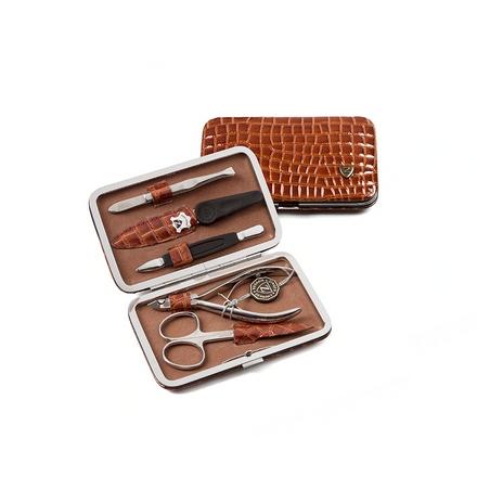 Zinger, Маникюрный набор, MS-FC301-S, коричневый