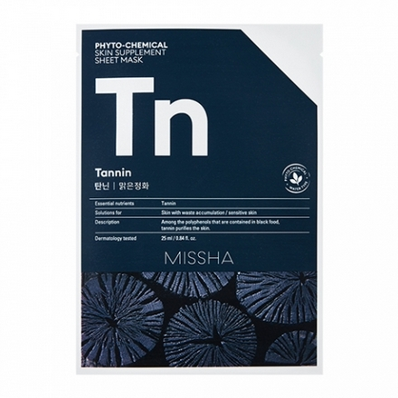 Missha, Маска для лица Phyto-chemical Tannin, 25 мл фото