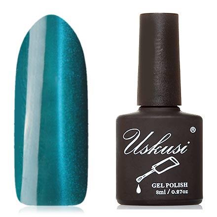 Uskusi, Гель-лак «Кошачий глаз» №5Uskusi<br>Магнитный гель-лак (8 мл) темный лазурно-голубой, с голубыми микроблестками, плотный.<br><br>Цвет: Синий<br>Объем мл: 8.00