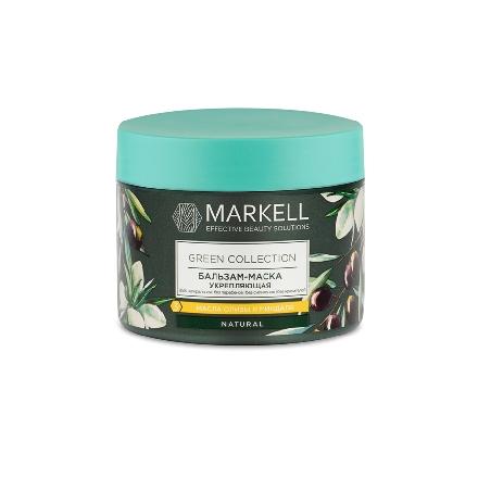 Markell, Бальзам-маска Green Collection, укрепляющая, 300 млМаски для волос <br>Маска для увлажнения и питания волос.