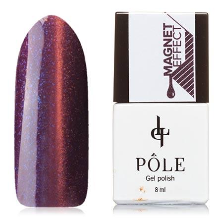 POLE, Гель-лак №42, Спелая сливаPOLE<br>Магнитный гель-лак (8 мл) цвета спелой сливы, с синими и медно-рыжими  микроблестками, плотный.<br><br>Цвет: Фиолетовый<br>Объем мл: 8.00