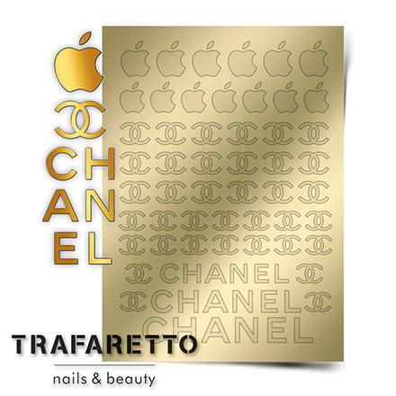 Купить Trafaretto, Металлизированные наклейки Fsh-01, золото