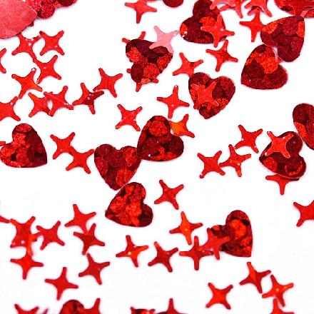 Купить Patrisa Nail, Камифубуки «Сердце и звезды» №К101, микс, голография, Красный