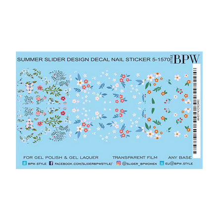 BPW.style, Слайдер-дизайн «Мелкие цветы» №5-1570