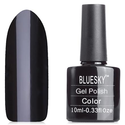 Bluesky, Гель-лак №40518/80518 Black PoolBluesky Шеллак<br>Гель-лак (10 мл) черный, без блесток и перламутра, плотный.
