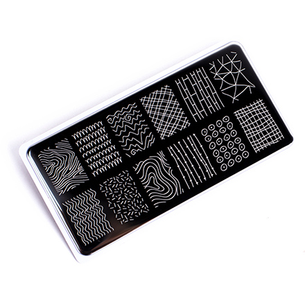 Купить ONIQ, Пластина для стемпинга Echo, Line Art №1