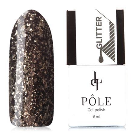 POLE, Гель-лак №46, Звездная ночьPOLE<br>Гель-лак (8 мл) черный, с золотистой фольгой, плотный.<br><br>Цвет: Черный<br>Объем мл: 8.00